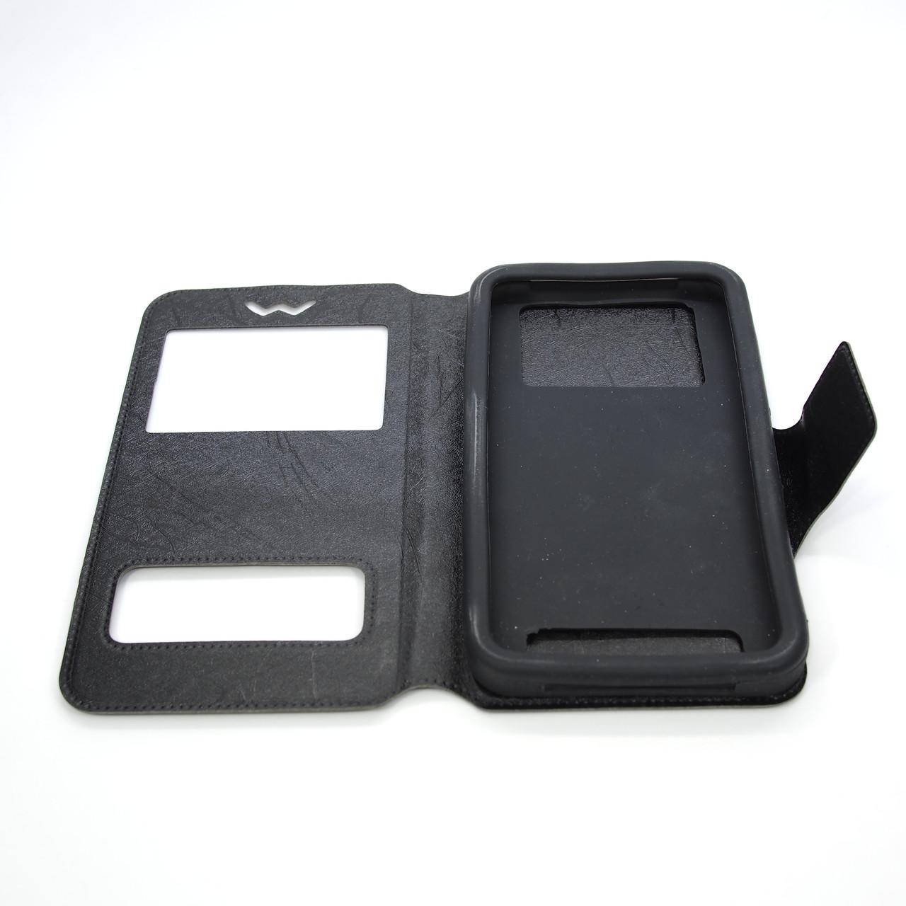Чехлы для других смартфонов Universal Book Window 5.2-5.5 black Для телефона