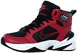 Мужские высокие зимние кроссовки Nike M2K Winter Red Найк красные
