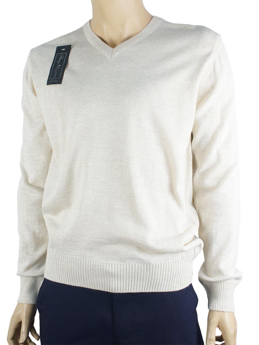 Светлый  классический мужской свитер Perry Meyson 0250 беж.мис