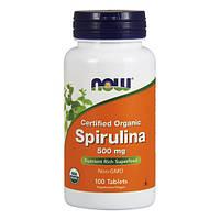 NOW - Spirulina 500mg (100 tabs) / Спирулина