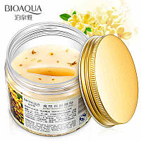 Тканевая маска-патчи BIOAQUA Golden Osmanthus Nourishing Eye Mask с цветками золотого османтуса