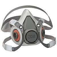 3M 6100 Напівмаска без фільтрів серії 6000, S, М, L Респіратор для Фарбування Захисна Маска від Пилу Захист FFP1