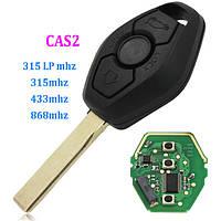 Ключ BMW оригинал лезвие HU92, 433\315Mhz Cas2