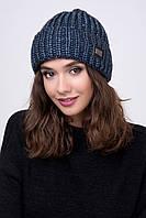 Женская шапка вязаная с отворотом Рок-н-Ролл