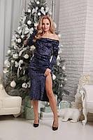 Вечернее женское платье 42 - 46 рр бархат муар