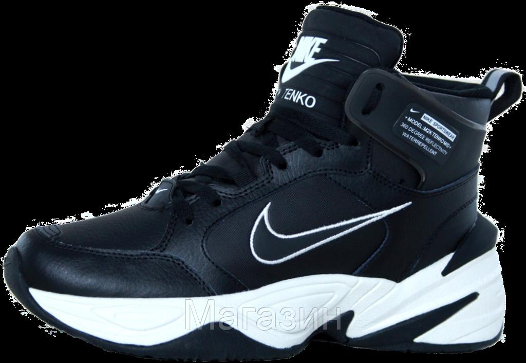 Купить Мужские высокие зимние кроссовки Nike M2K Winter Black Найк ... a123ffd330a