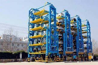 Вертикальная автоматическая система парковки автомобилей. Вертикальная автостоянка PCX-5F-8DH