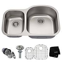 Кухонна мийка з двома чашами Kraus KBU25, фото 1