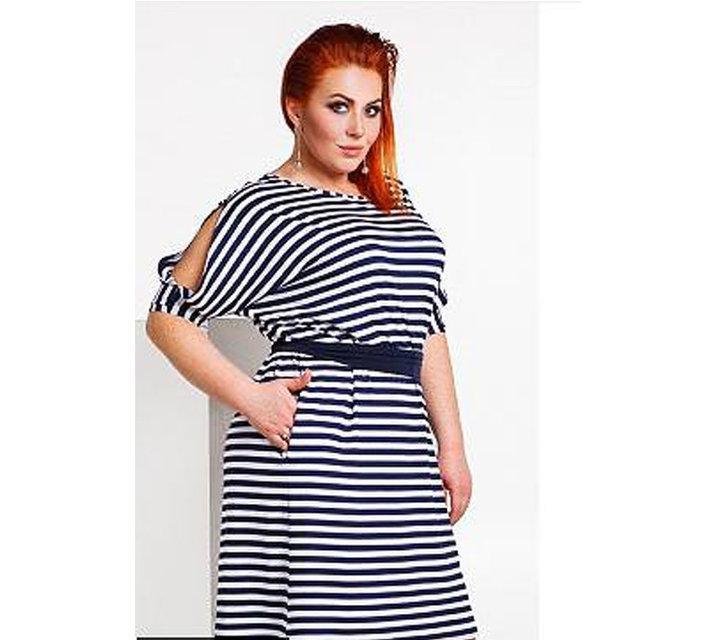 """Платье """"Гретта"""" с поясом  Большие размеры 48-58"""