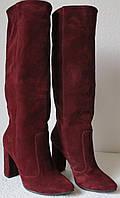 Женские стильные демисезонные сапоги Angel натуральная замша каблук 10 см, фото 1