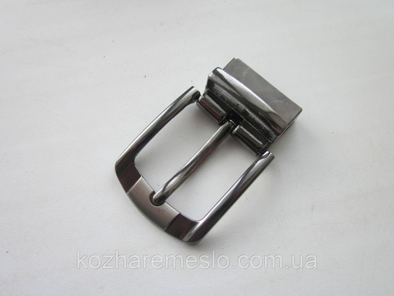 Пряжка поворотная для ремня 35 мм тёмный никель