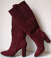 Женские стильные зимние сапоги Angel еврозима натуральная замша каблук 10 см, фото 1