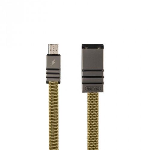 USB Data кабель Remax Weave RC-081m MicroUSB 1m