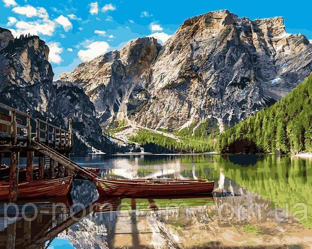 Пейзаж с горами - большая картина