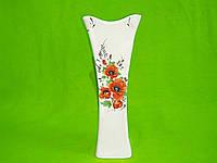 Керамическая настольная ваза «Акаша Мак»  с деколью
