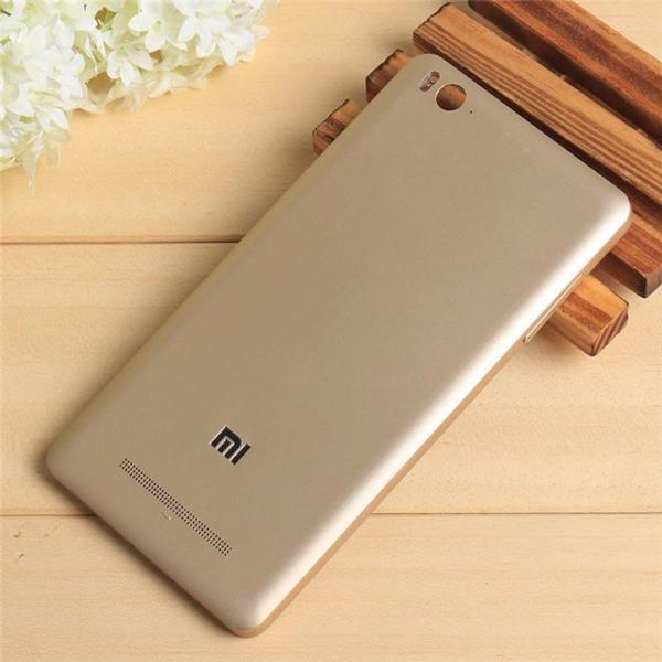 Задняя крышка для смартфона Xiaomi Mi4c золотистая, с держателем SIM-карты, с боковой кнопкой