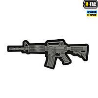 M-TAC НАШИВКА M4A1 3D ПВХ СЕРАЯ, фото 1