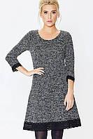 Платье женское черное Nenka 680-с01 трикотаж букле, фото 1