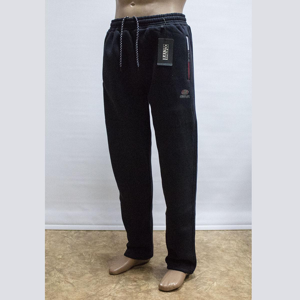 Мужские теплые спортивные штаны трехнитка пр-во Турция 1301