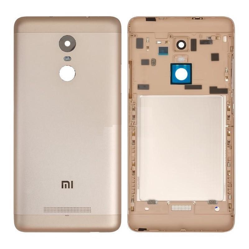 Задня кришка для смартфону Xiaomi Redmi Note 3 Pro, золотиста, з боковими кнопками, Original