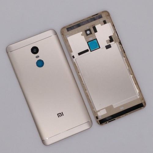Задня кришка для смартфону Xiaomi Redmi Note 4X, золотиста, з боковою кнопкою, MediaTek 4/64GB