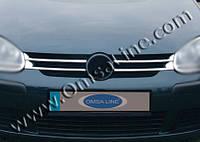 Volkswagen Golf (2010-2013) Накладки на решетку радиатора 4шт