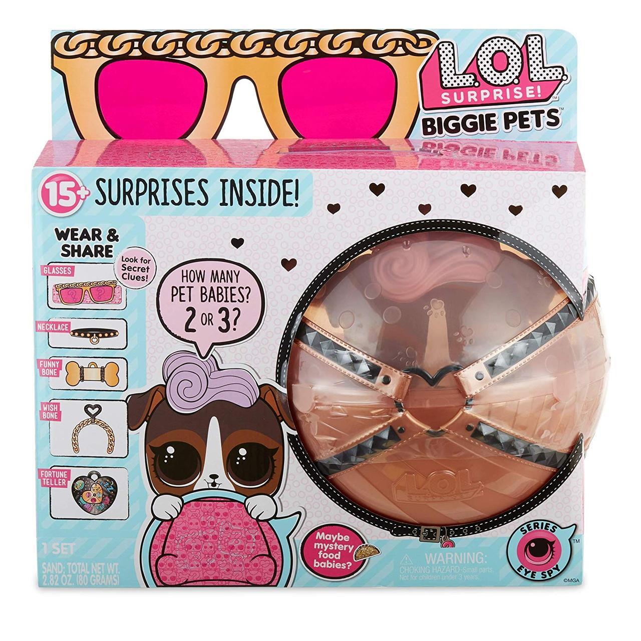 Большой питомец Лол LOL собачка Ди Джей К9 секретные месседжи оригинал L.O.L. Surprise! Biggie Pet- D.J. K9