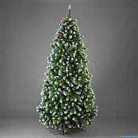 Элитная искусственная ёлка с шишками белый кончик 200 см