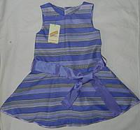 Летнее платье - сарафан для девочки в полоску. Оригинальный подарок