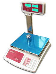 Торговые весы со стойкой Олимп 768Д 40кг (340*230мм)