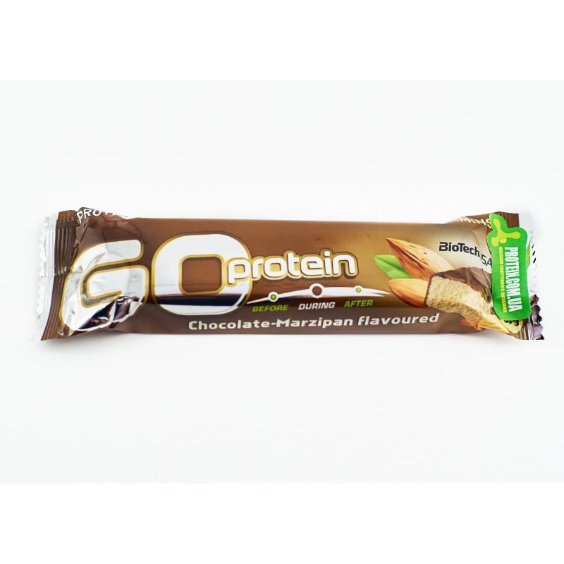 Протеїновий батончик BioTech GO Protein 80 г шоколад - марципан