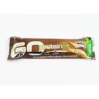 Протеїновий батончик BioTech GO Protein 80 г шоколад - марципан, фото 1