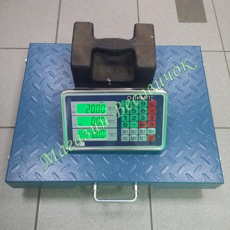 Беспроводные товарные весы Олимп R2_300 кг (400х500мм) Wi-Fi