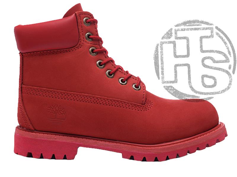 Женские ботинки Timberland Classic Boots Bordo Winter (с мехом)