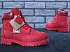 Женские ботинки Timberland Classic Boots Bordo Winter (с мехом), фото 5