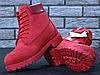 Женские ботинки Timberland Classic Boots Bordo Winter (с мехом), фото 3