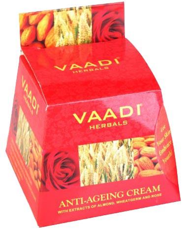 Омолаживающий крем с экстрактами миндаля, зародышей пшеницы и розы, 30 г