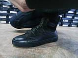 Кожаные зимние ботинки под кеды на молнии и липучках Rondo, фото 6