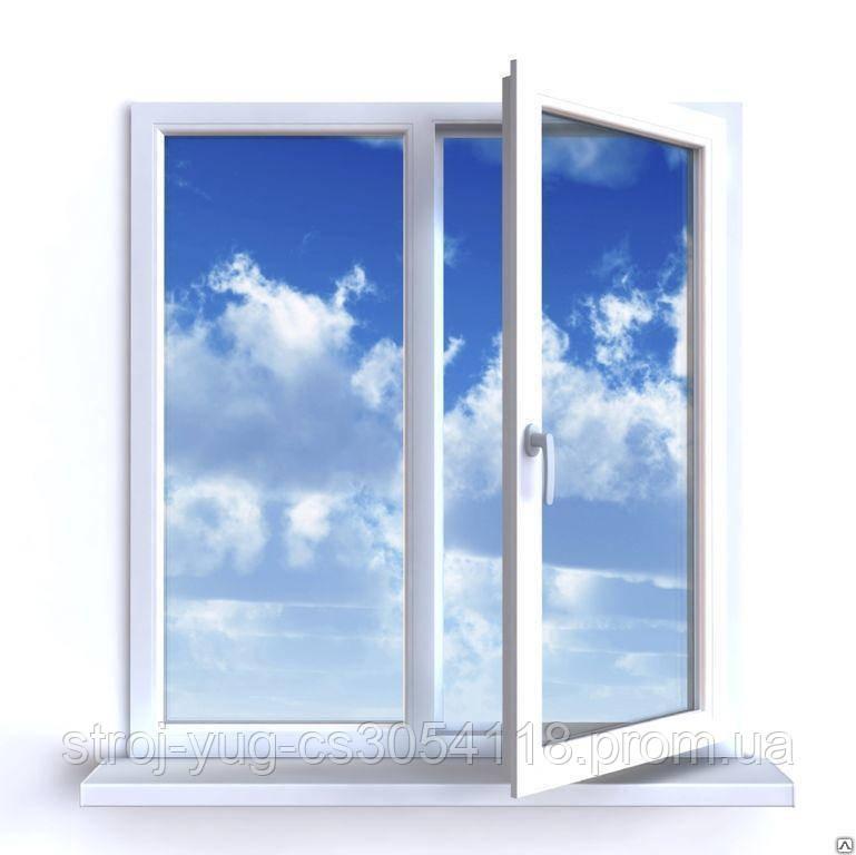Окна металлопластиковые Rehau E60 3-х камерный 1,30х1,40 полная комплектация с монтажем