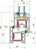 Окна металлопластиковые Rehau E60 3-х камерный 1,30х1,40 полная комплектация с монтажем, фото 2