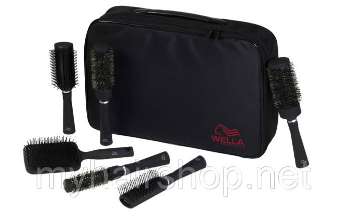 Набор профессиональных щеток WELLA Brush Set Universal Acessory Black