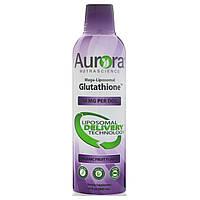 Aurora Nutrascience, Мегалипосомальный глутатион, органический фруктовый вкус, 750 мг, 16 ж. унц. (480 мл)