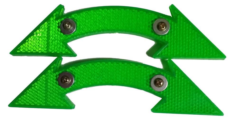 Катафоты велосипедные DN-130 Green 2 шт.