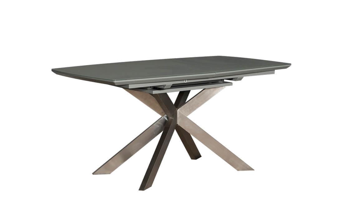 Обеденный стол Мартин серый сатин 160/200 от Prestol