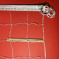 Сетка для волейбола «ПРЕМИУМ 15» с тросом белая