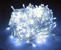Гирлянда светодиодная 400 Led силикон 20 м Контроллер белая Cool White 8 режимов G010