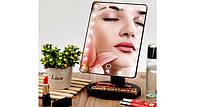 Зеркало для макияжа Magic Makeup LED Mirror c подсветкой. Розовое, черное