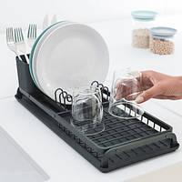 Сушка для посуды Brabantia Compact Printing Rib, Light Grey 117268