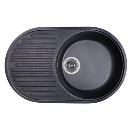 Мойка Fosto 74x46 без сифона 420 черный