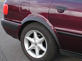 Накладки на арки (4 шт, черные) - Audi 80/90 1987-1996 гг.